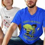 man-and-woman-wearing-science-tshirts